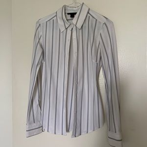 Express stretchy fitted office shirt
